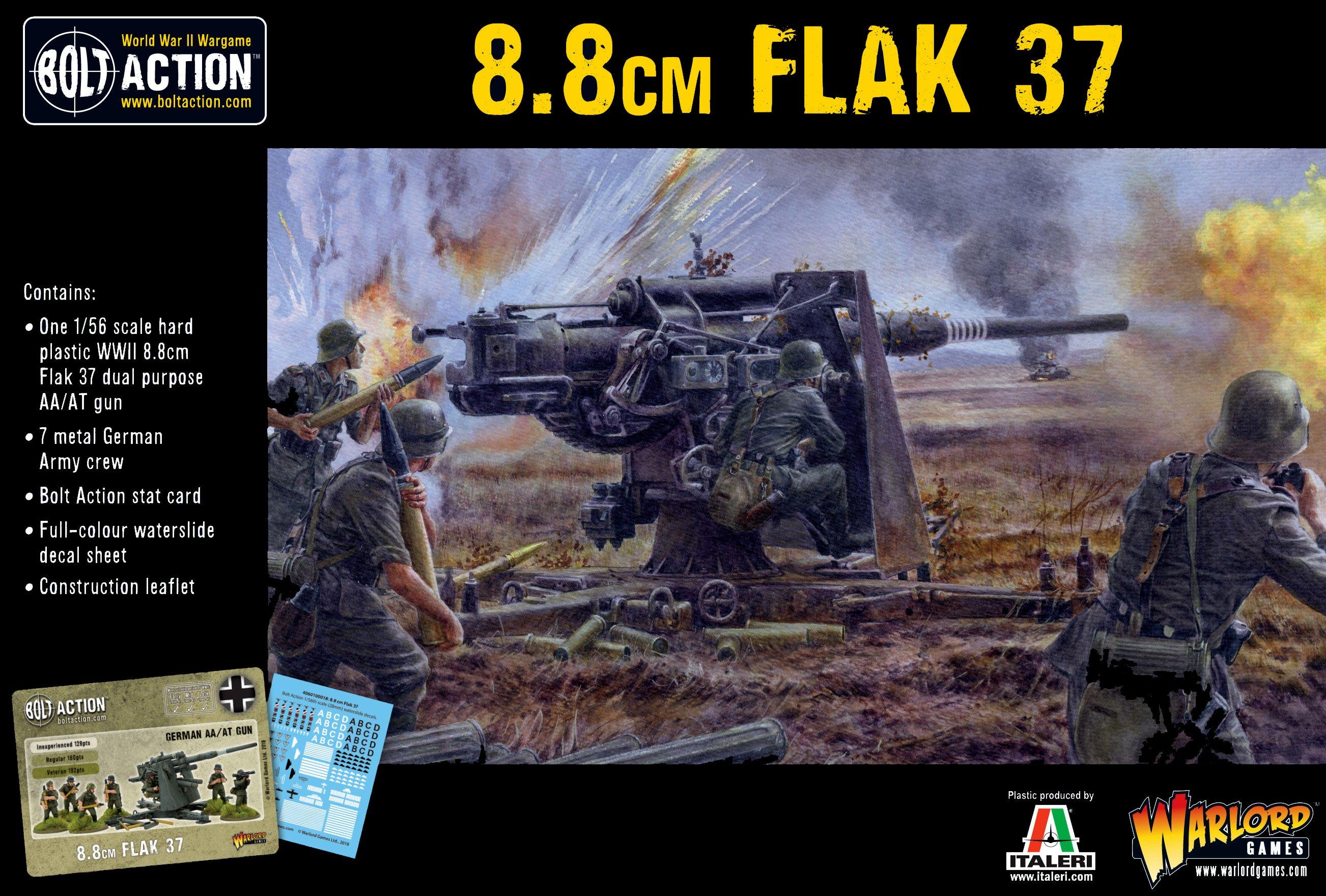 Bolt Action German Army Flak 37 8.8cm (plastic)