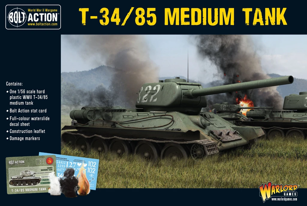 Bolt Action T34/85 Medium Tank