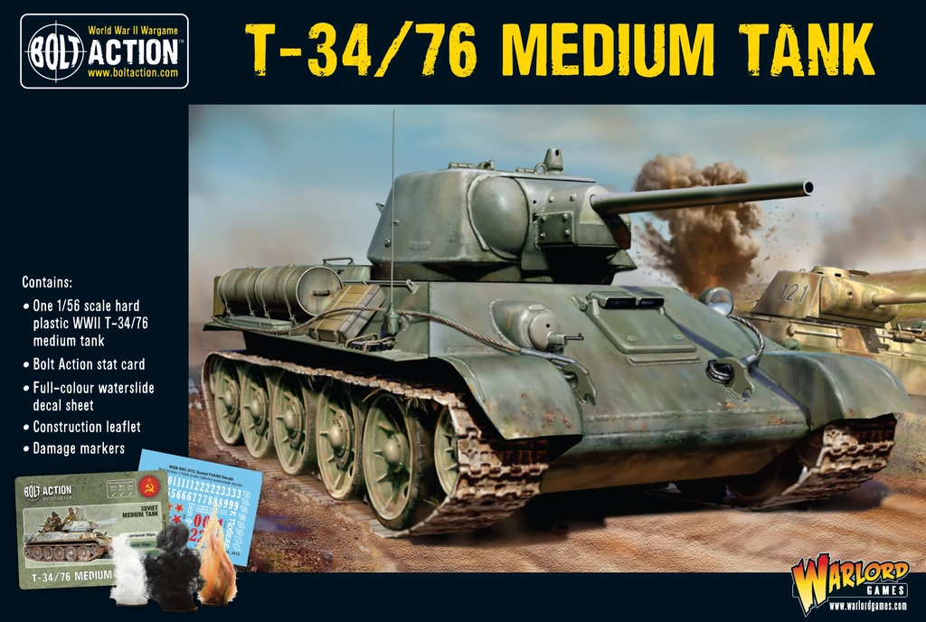 Bolt Action T34/76 Medium Tank