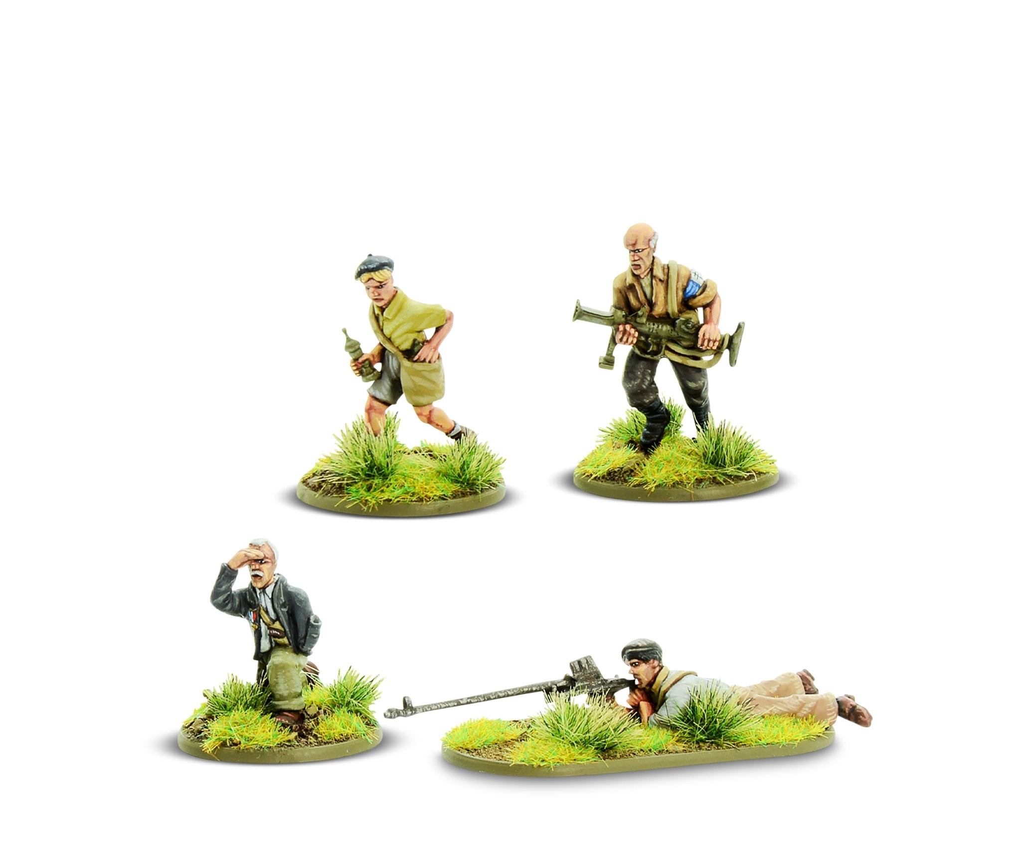 Bolt Action French Resistance PIAT & Anti-tank rifle teams