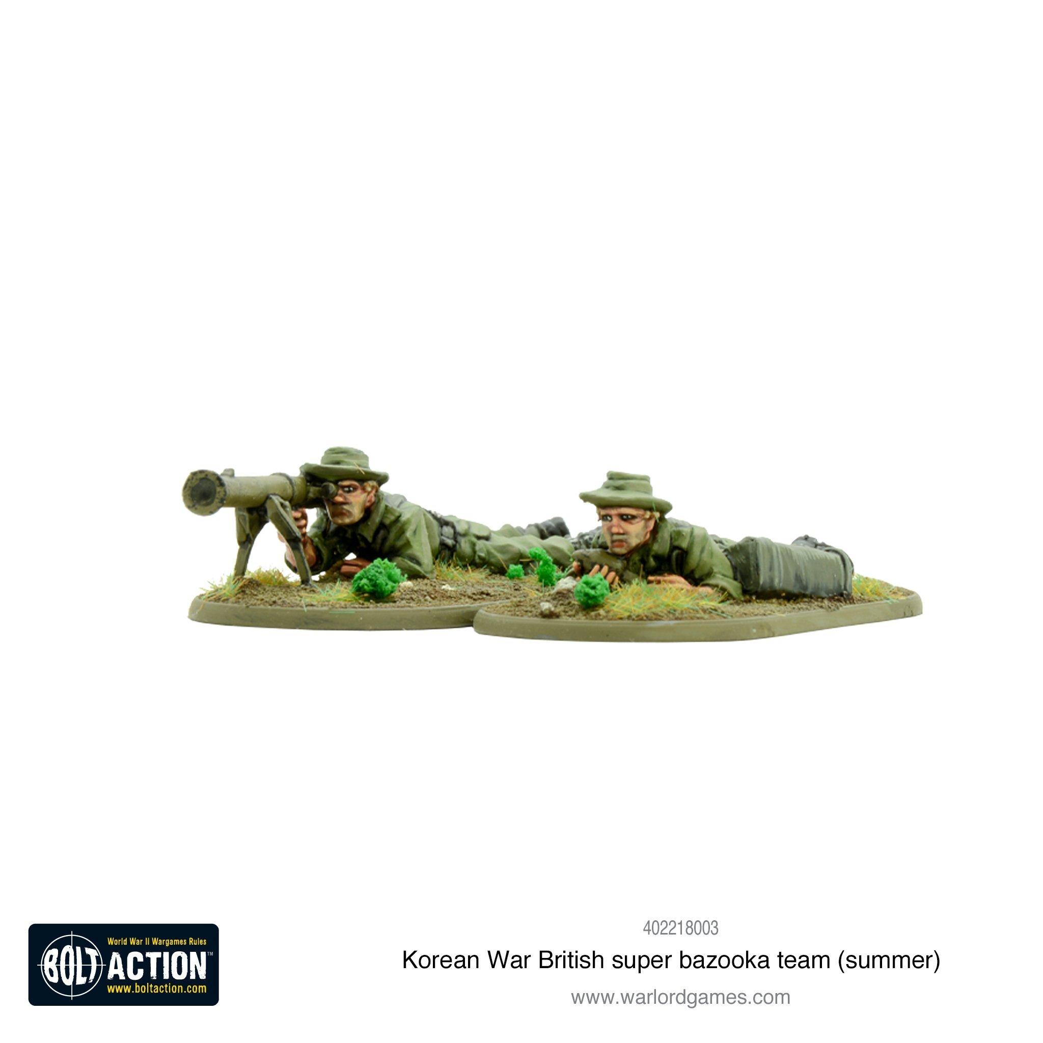 Bolt Action Korean War British super bazooka team (summer)