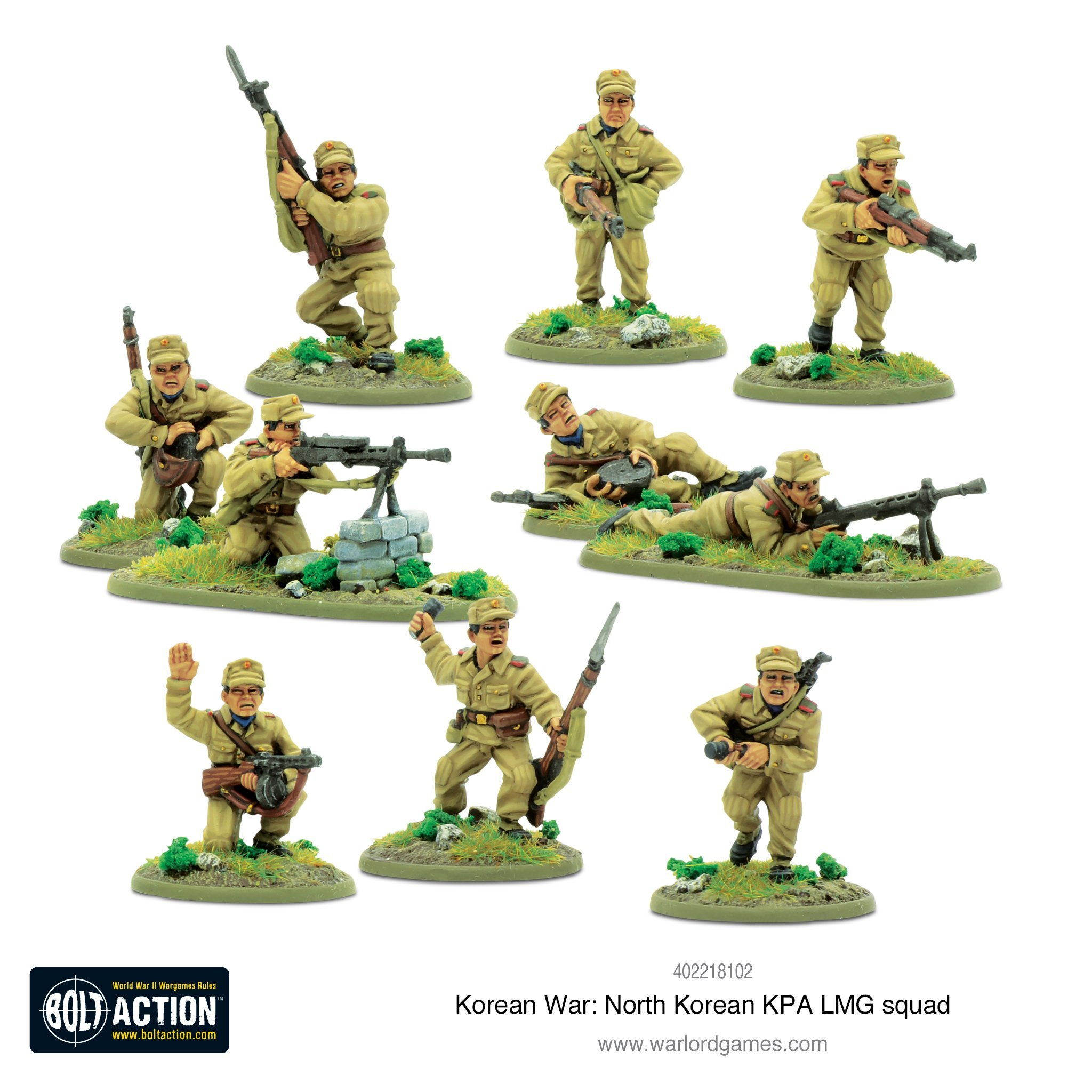 Bolt Action Korean War: North Korean KPA LMG squad