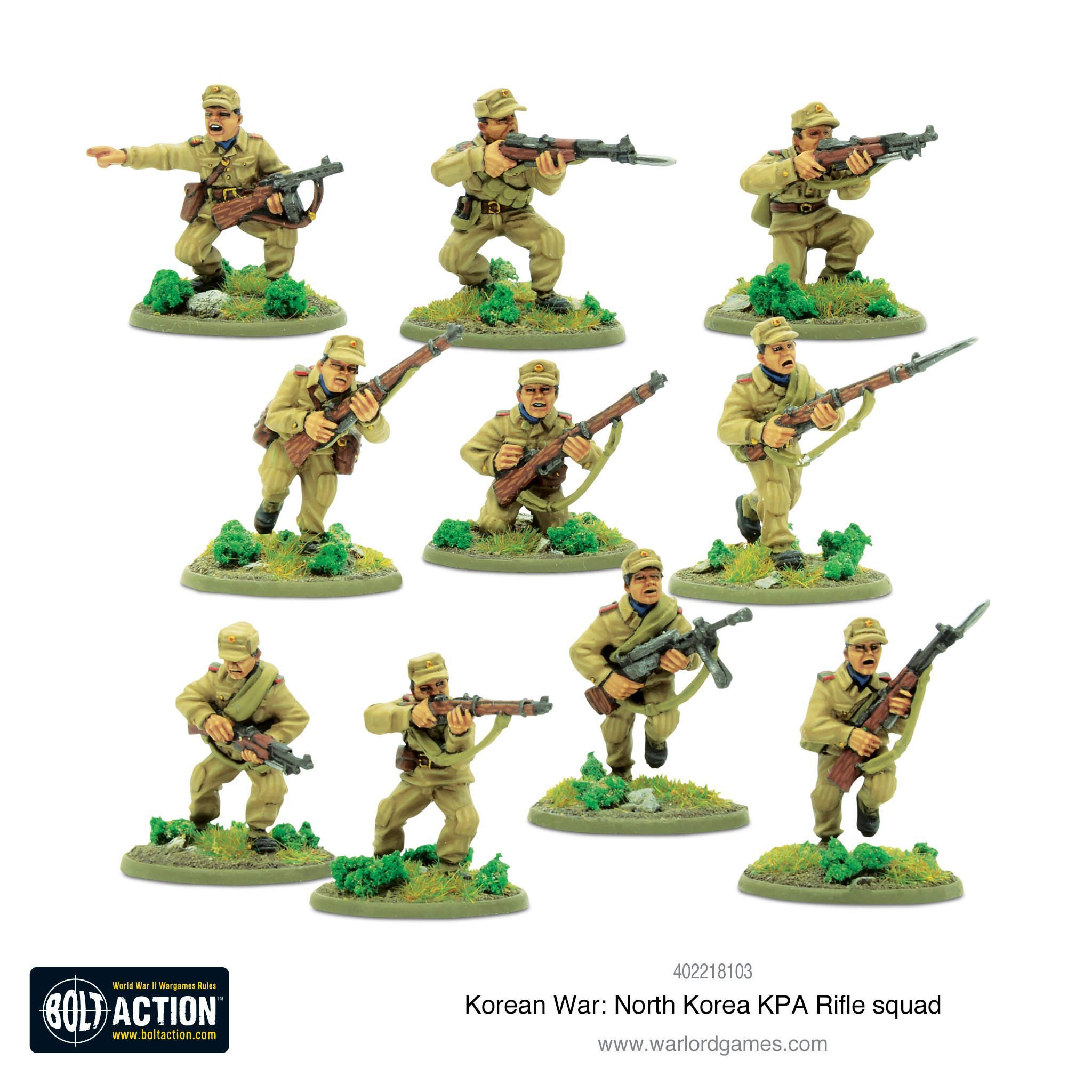 Bolt Action Korean War: North Korean KPA Rifle squad