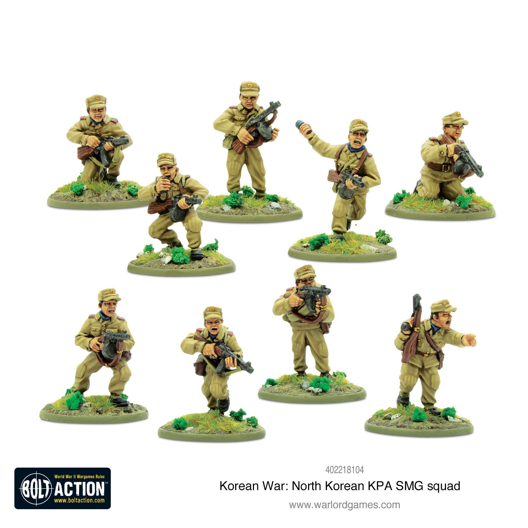 Bolt Action Korean War: North Korean KPA SMG squad