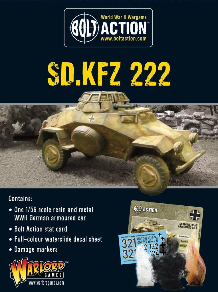 Bolt Action Sdkfz 222 Armoured Car