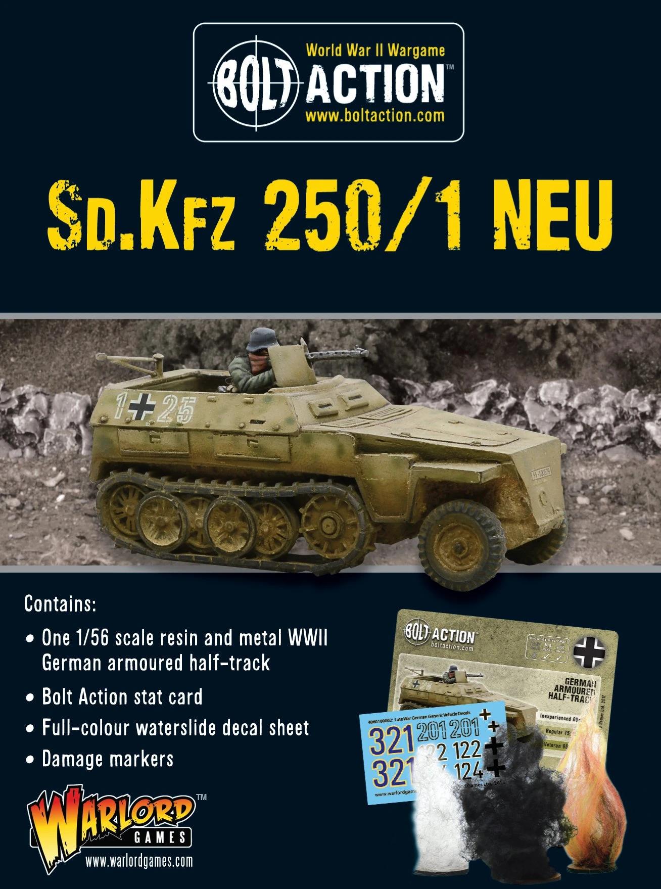 Bolt Action Sd.Kfz 250/1 NEU (2018)