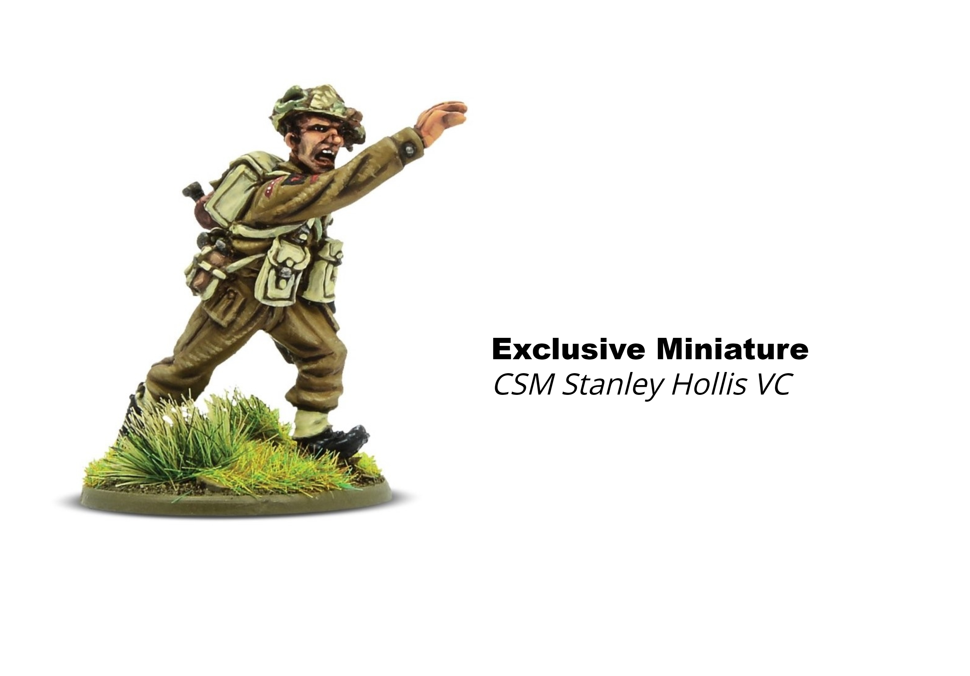 Bolt Action CSM Stanley Hollis VC, Limited Ed Miniature