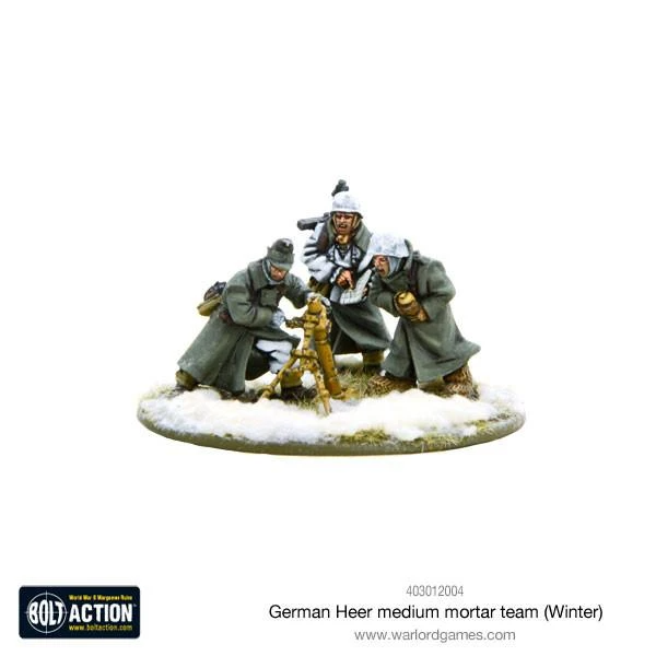 Bolt Action German Heer Medium Mortar team (Winter)