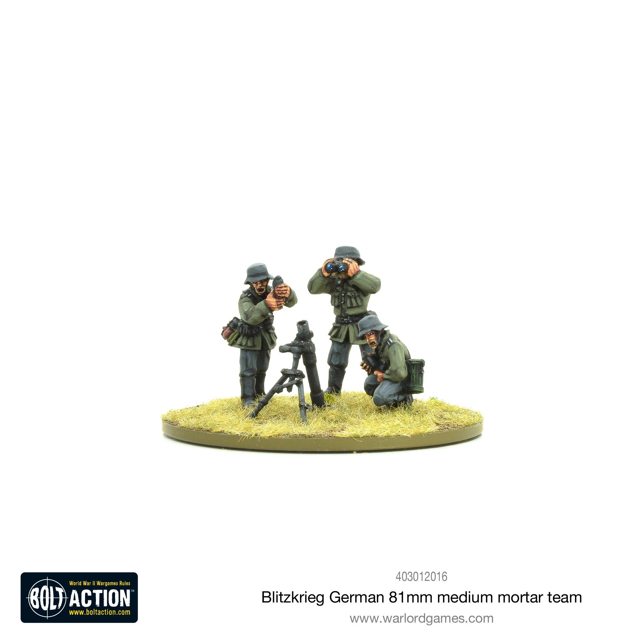 Bolt Action Blitzkrieg German medium mortar team (1939-42)