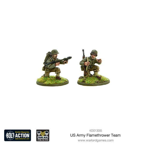 Bolt Action US Army flamethrower team
