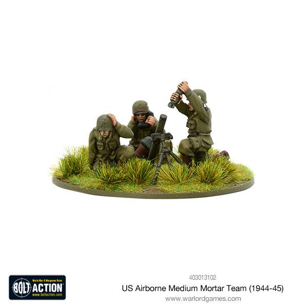 Bolt Action US Airborne medium mortar team (1944-45)