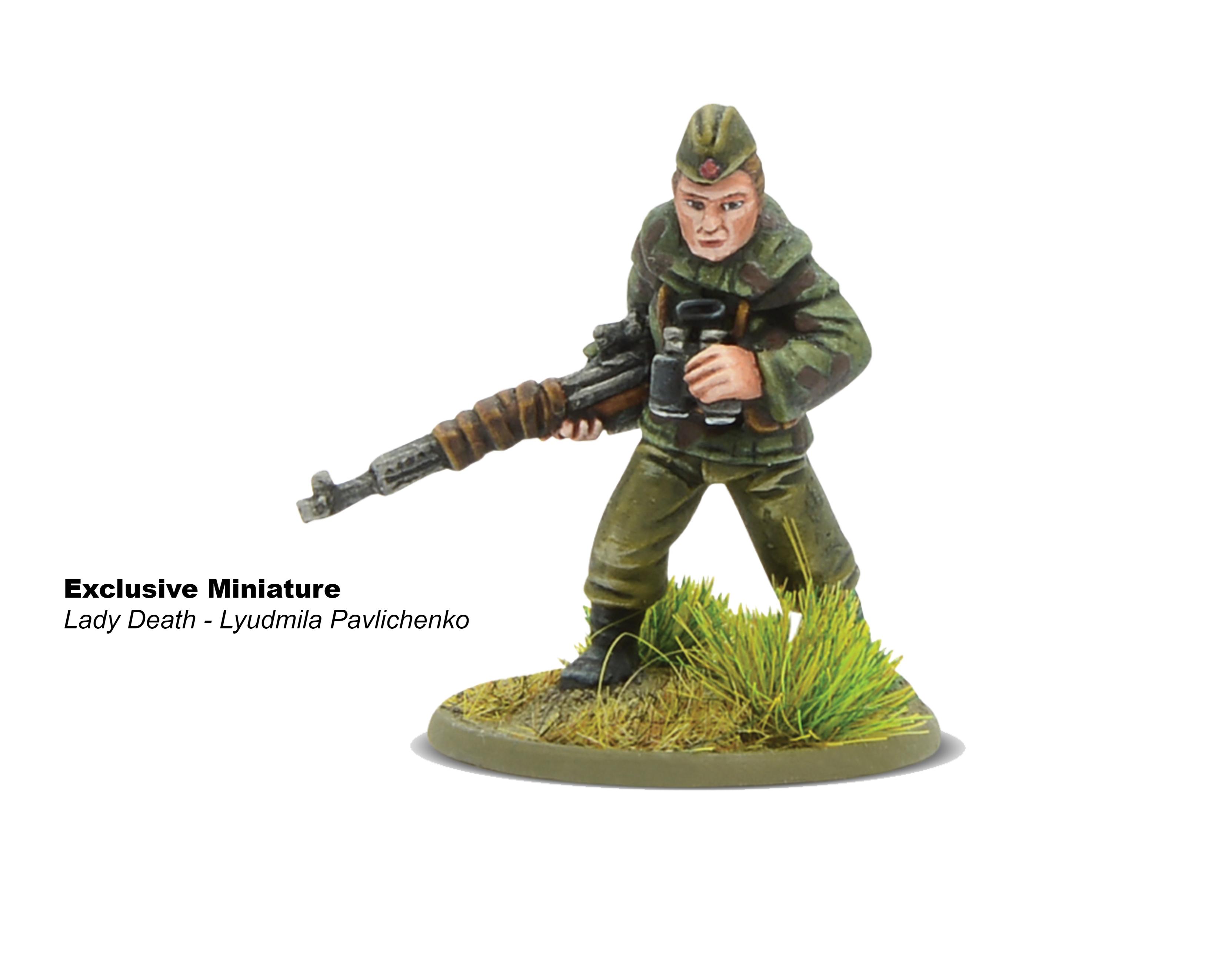 Bolt Action Lady Death - Lyudmila Pavlichenko Miniature