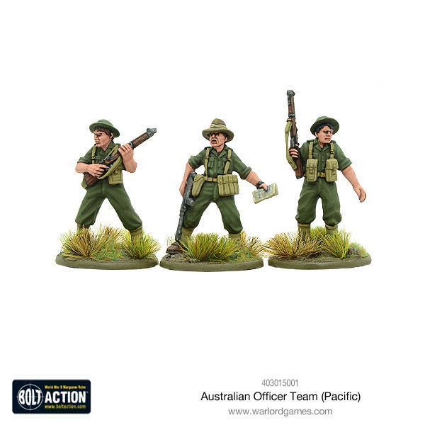 Bolt Action Australian officer team