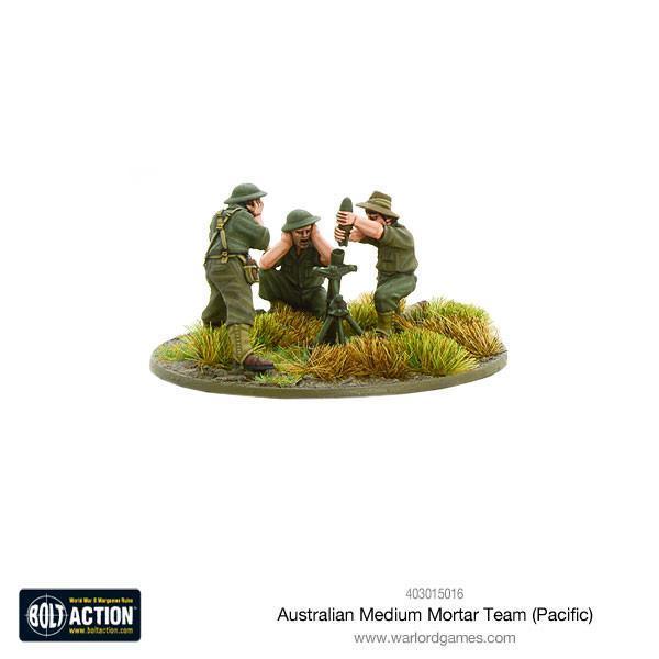 Bolt Action Australian medium mortar team (Pacific)