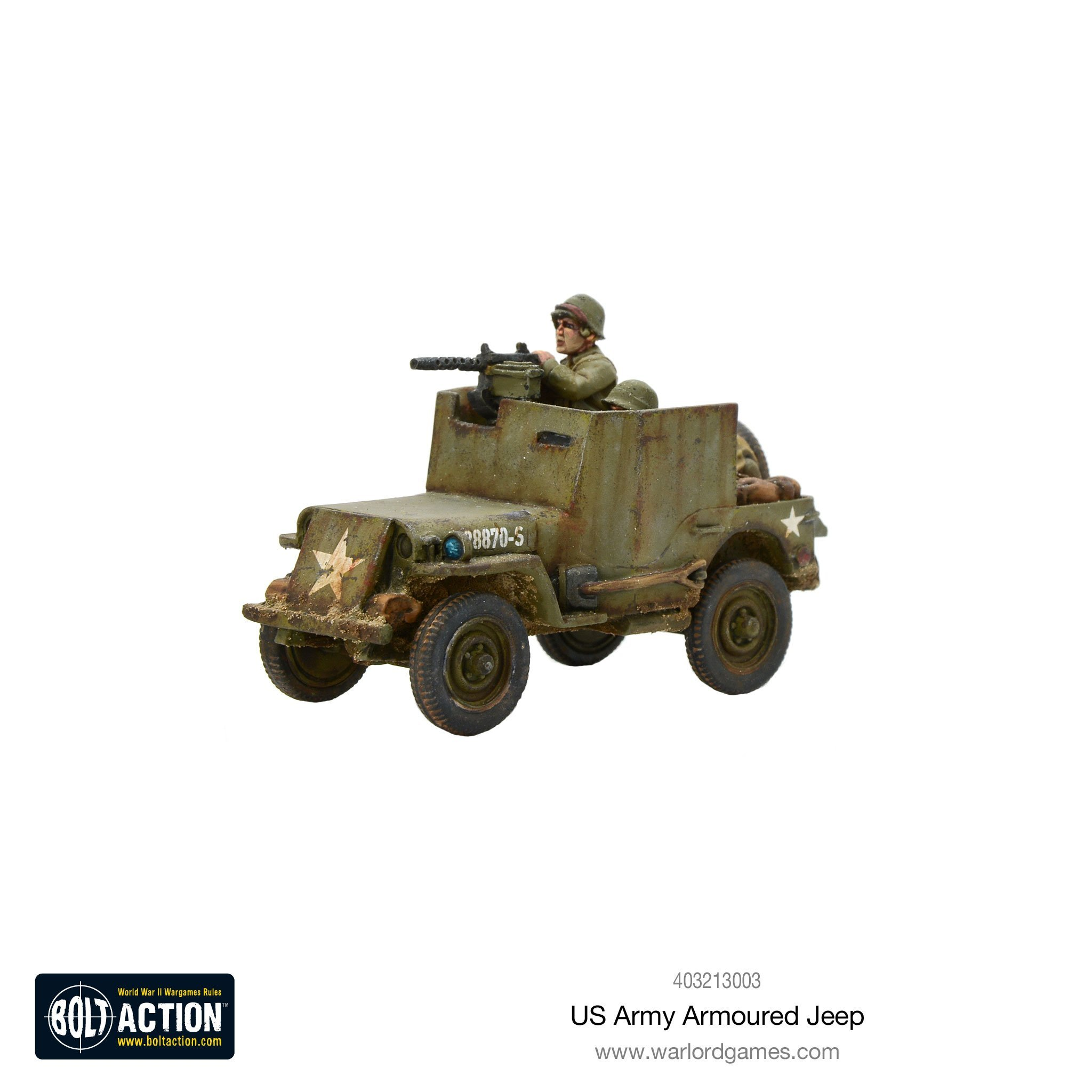Bolt Action US Army Armoured Jeep (Revised )