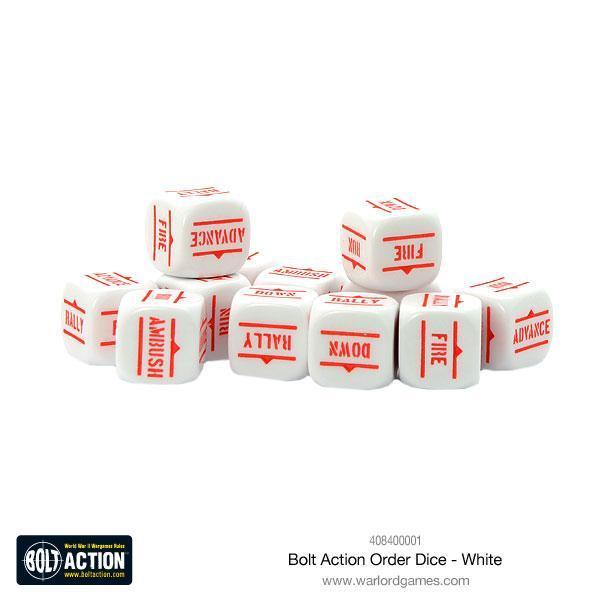 Bolt Action White Order Dice pack