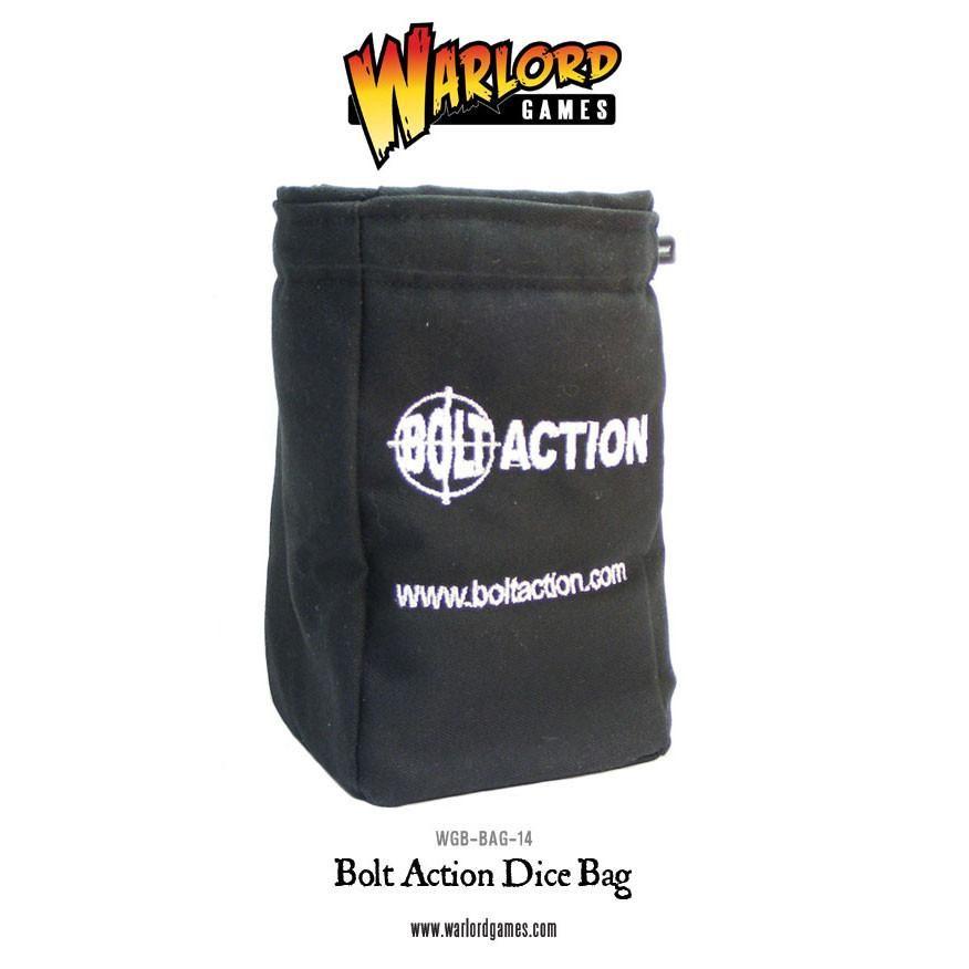 Bolt Action Dice Bag & Order Dice (Black)