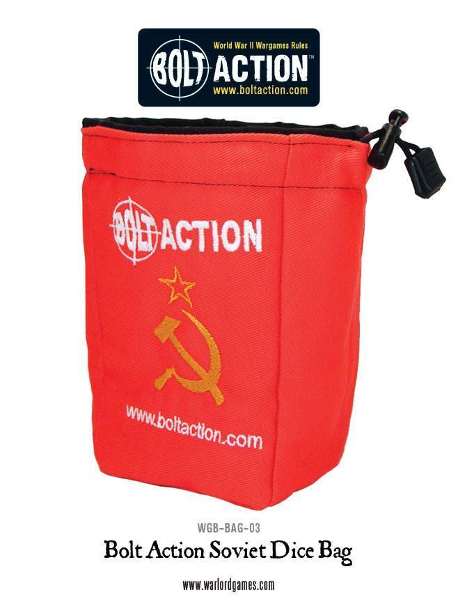 Bolt Action Soviet Dice Bag & Order Dice (Red)