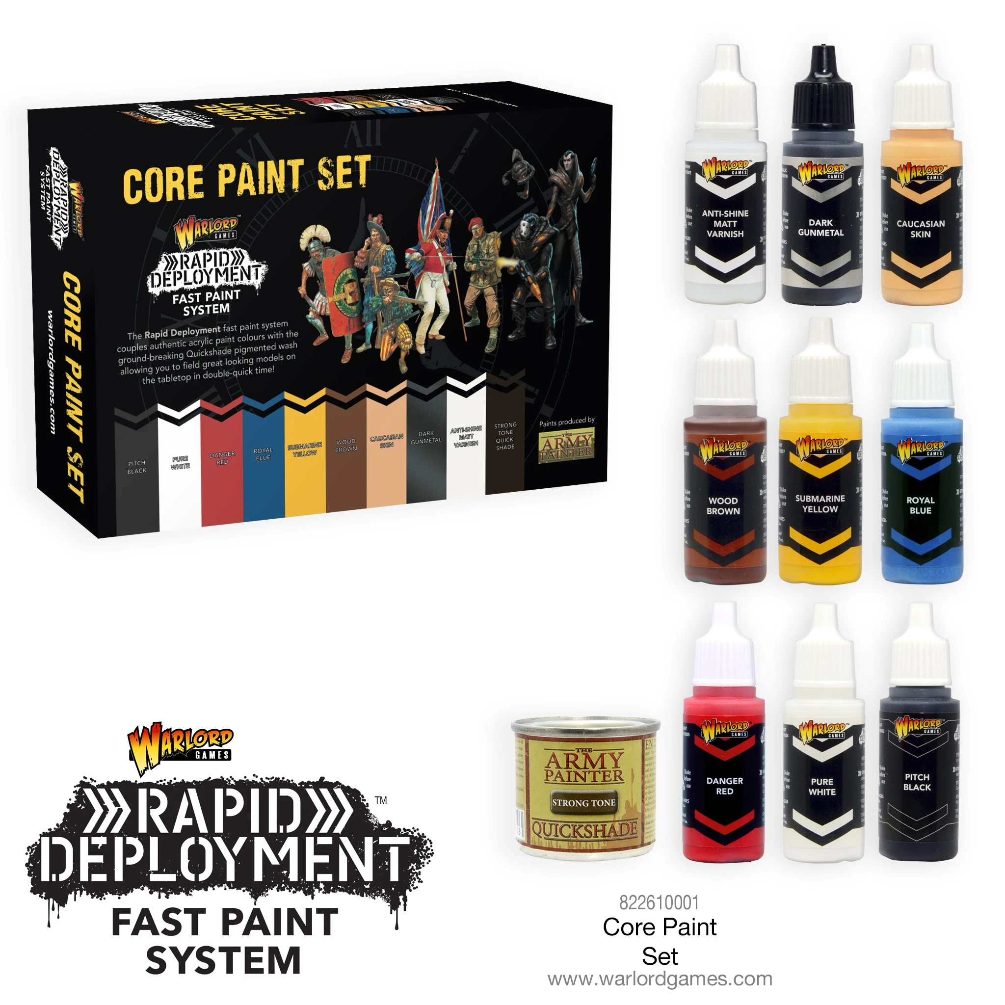Bolt Action Warlord Core Paint Set