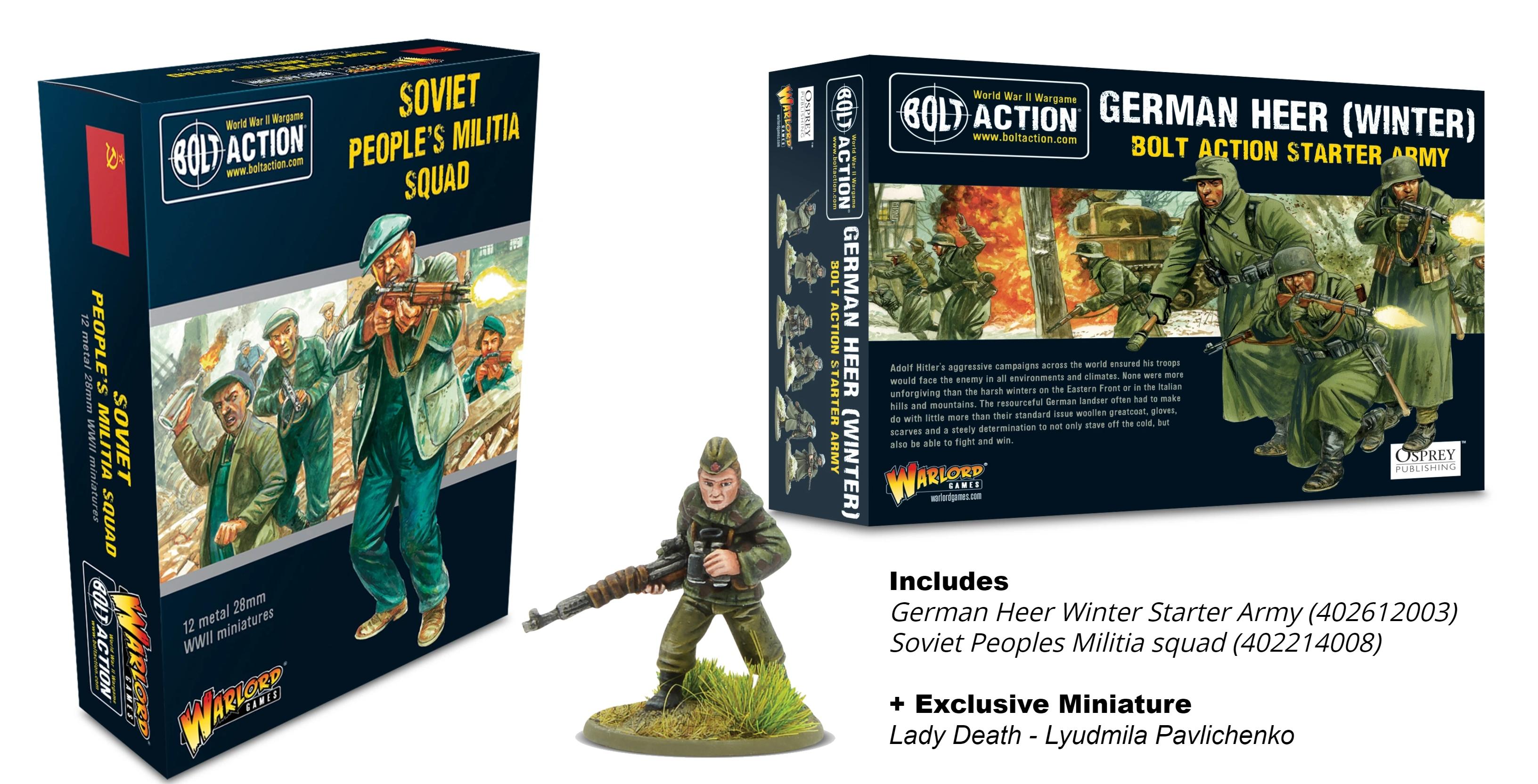 Bolt Action Winter Soviet Army Bundle w/ Lady Death Figure (Exclusive)