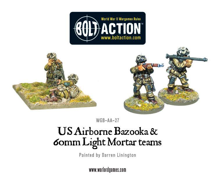 Bolt Action US Airborne Bazooka and 60mm light mortar teams
