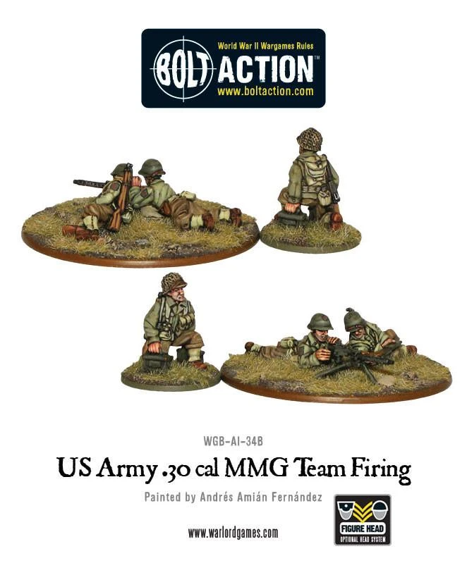 Bolt Action US Army 30 Cal MMG Team