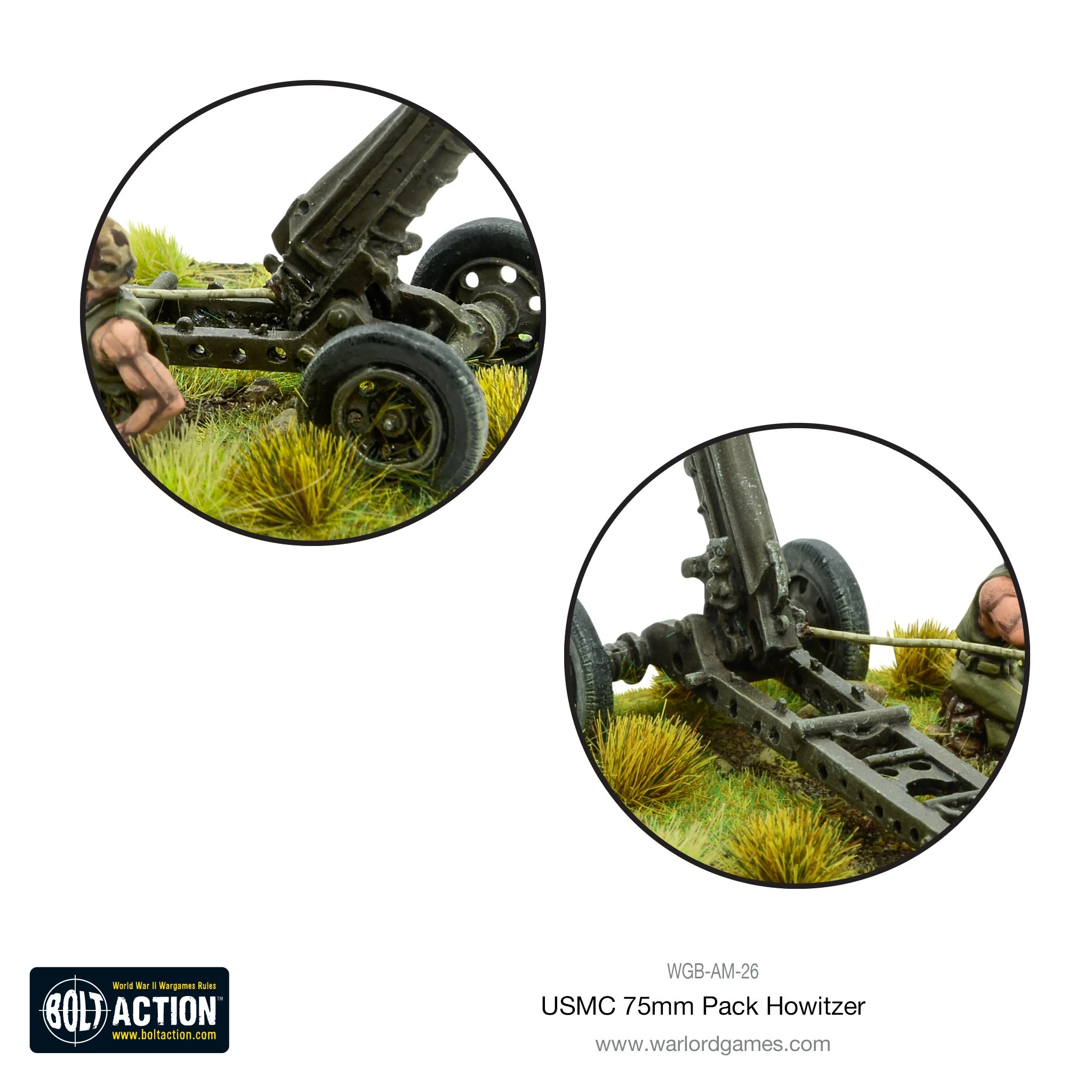 Bolt Action USMC 75mm pack howitzer light artillery