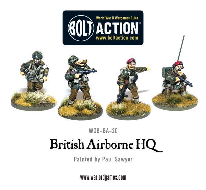 Bolt Action British Airborne HQ (4)