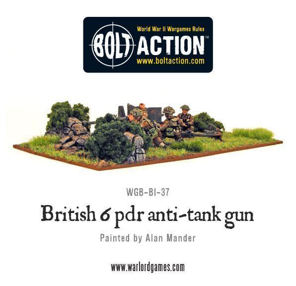 Bolt Action British Army Six Pounder AT Gun