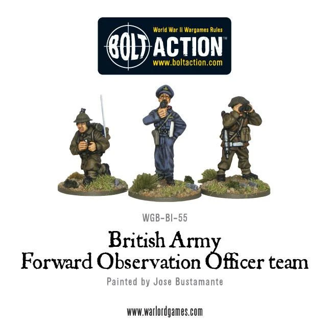 Bolt Action British Army Forward Observer Team