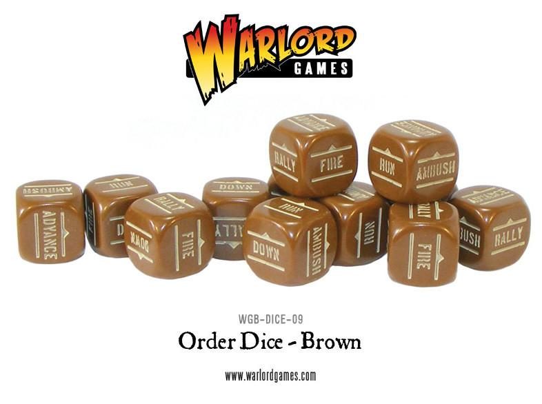 Bolt Action BA Order Dice -Brown
