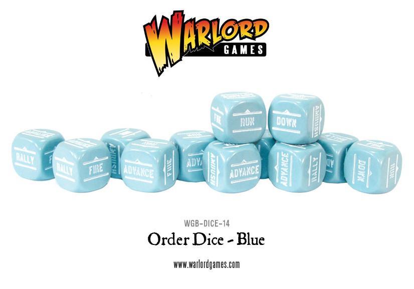 Bolt Action BA Order Dice -Blue