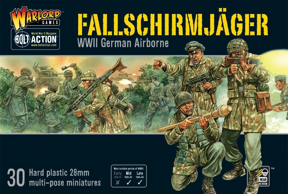 Bolt Action Fallschirmjager (German Paratroopers)