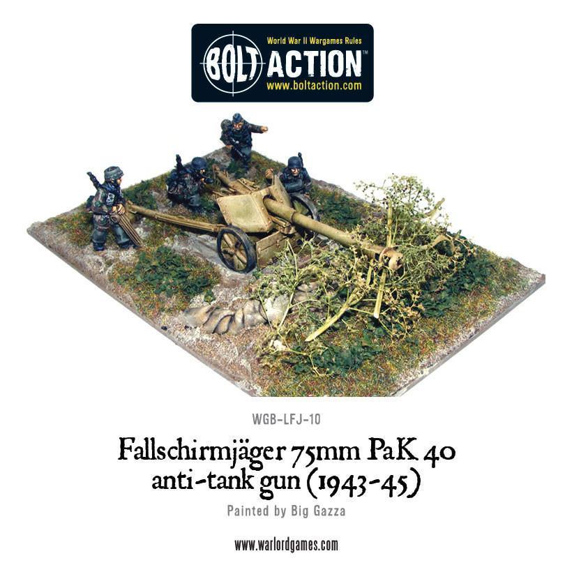Bolt Action Fallschirmjager 75mm PaK 40 anti-tank gun (1943-45...