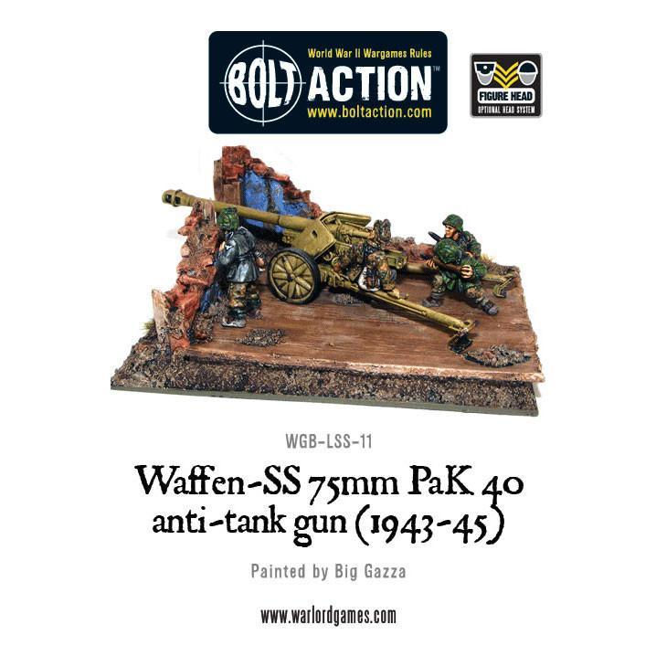 Bolt Action Waffen-SS 75mm PaK 40 anti-tank gun (1943-45)