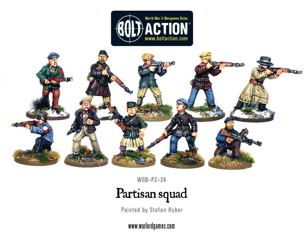 Bolt Action Partisan Squad