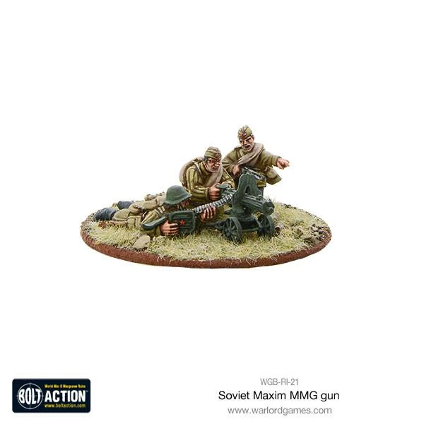 Bolt Action Soviet Maxim HMG Crew