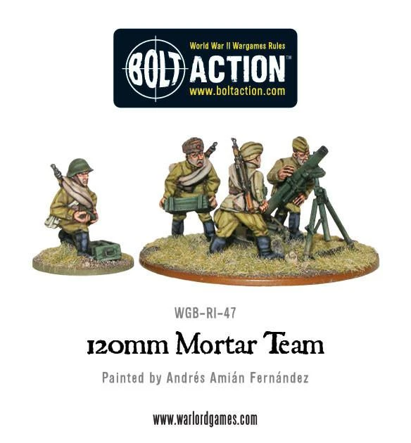 Bolt Action Soviet 120mm Mortar