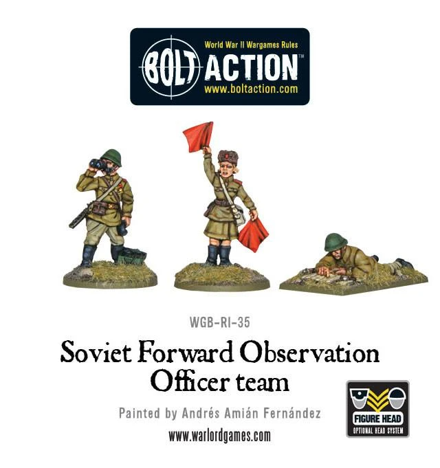 Bolt Action Soviet Forward Observer Officers (FOO)