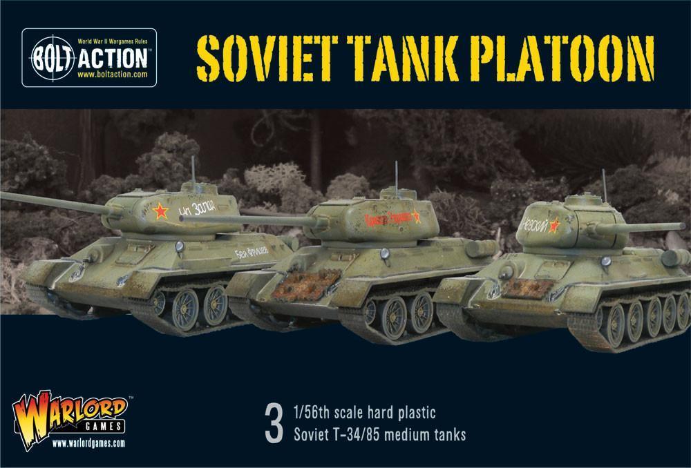 Bolt Action Soviet Tank Platoon boxed set