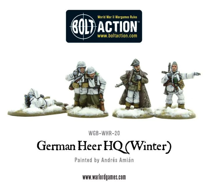 Bolt Action German Heer HQ (Winter)