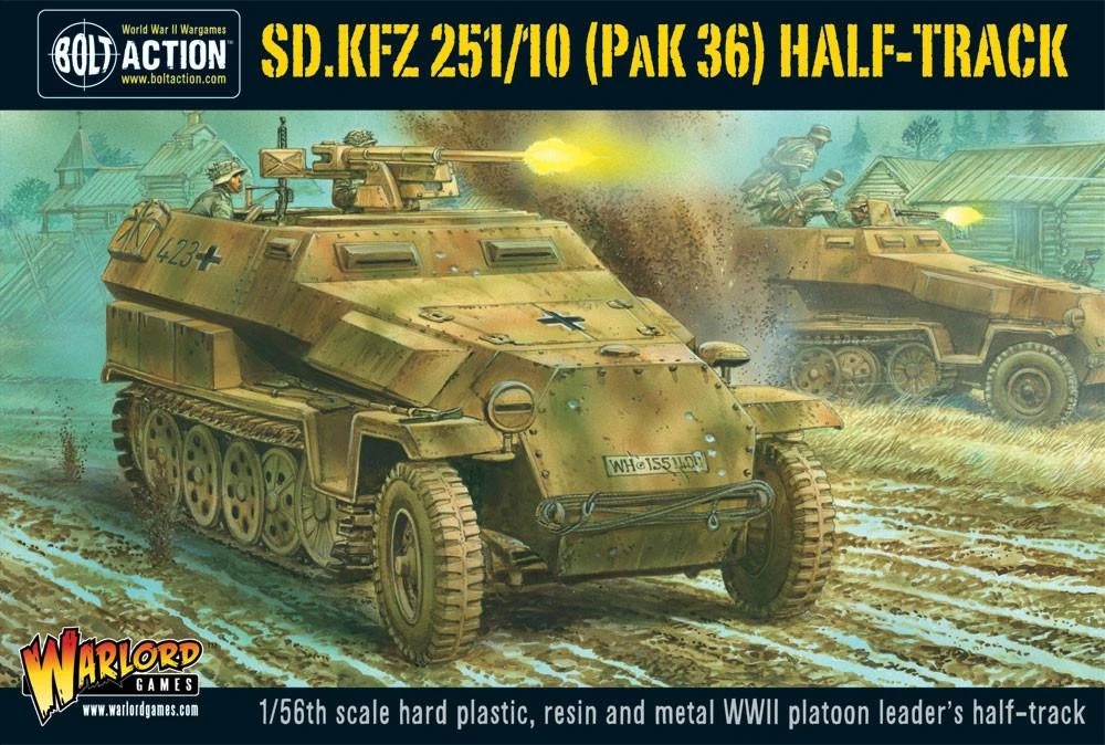 Bolt Action Sd.Kfz 251/10 Pak 36 Half-Track
