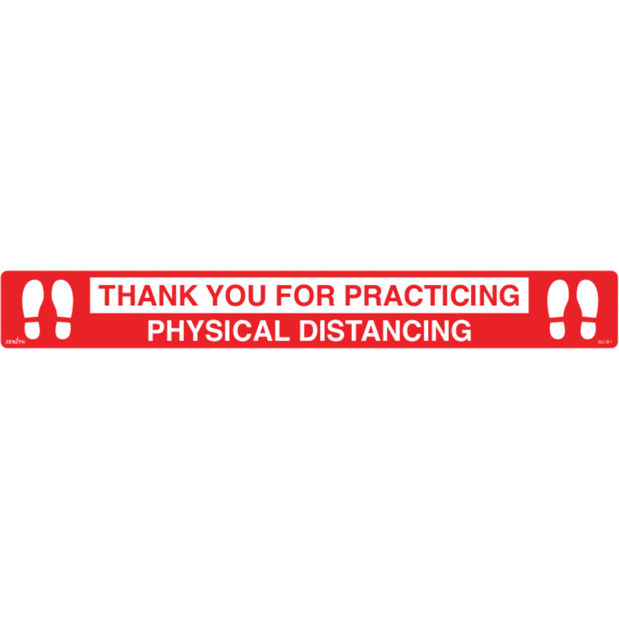 """3""""X24"""" Physical Distancing Floor Sticker"""