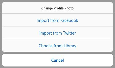 use your facebook or twitter profile picture on instagram as well