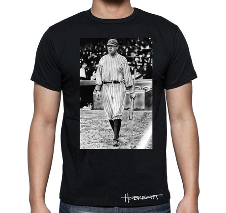 Babe Ruth On Deck T-Shirt Black