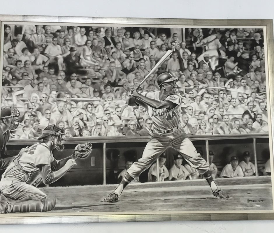 Hank aaron framed