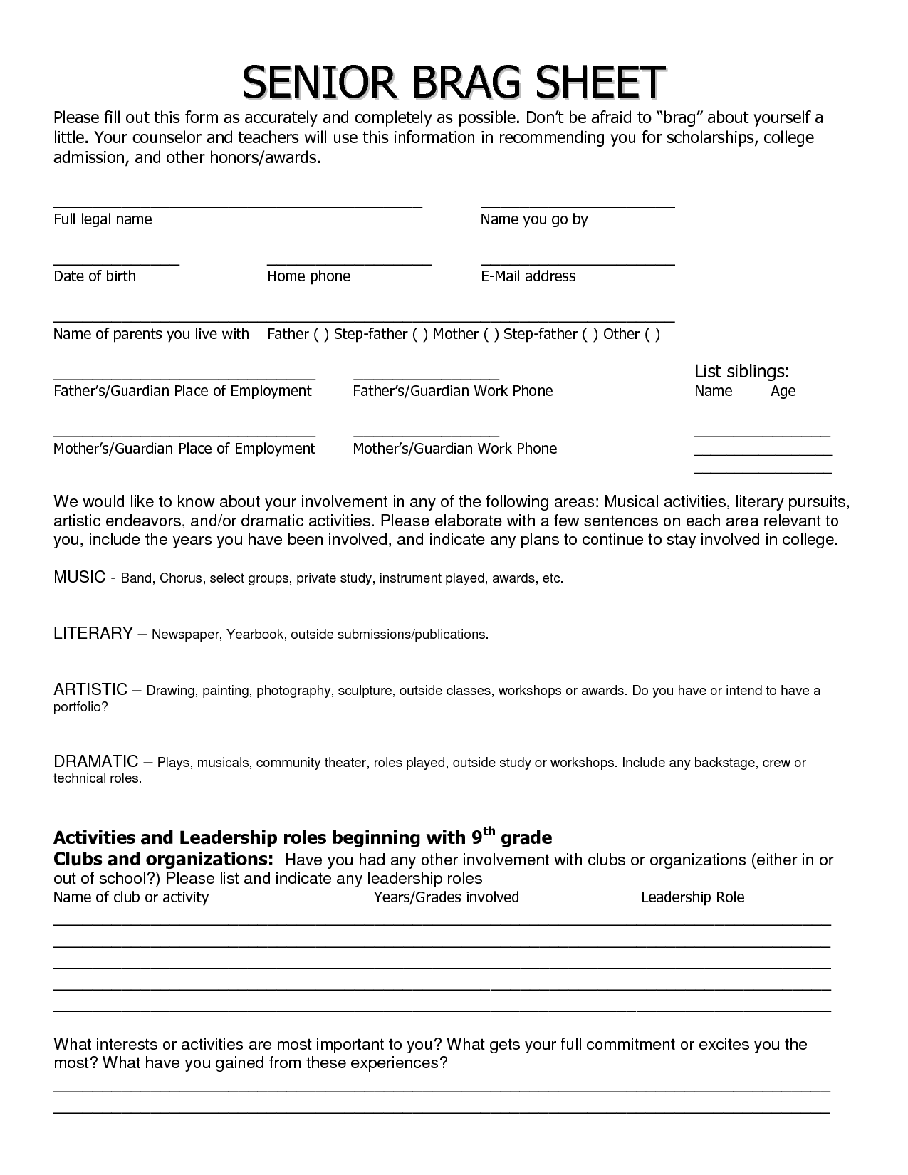 The U201cAfteru201d Sample ...  College Application Resume Sample