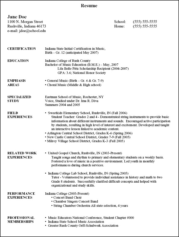 resume1Educational Background In Resume