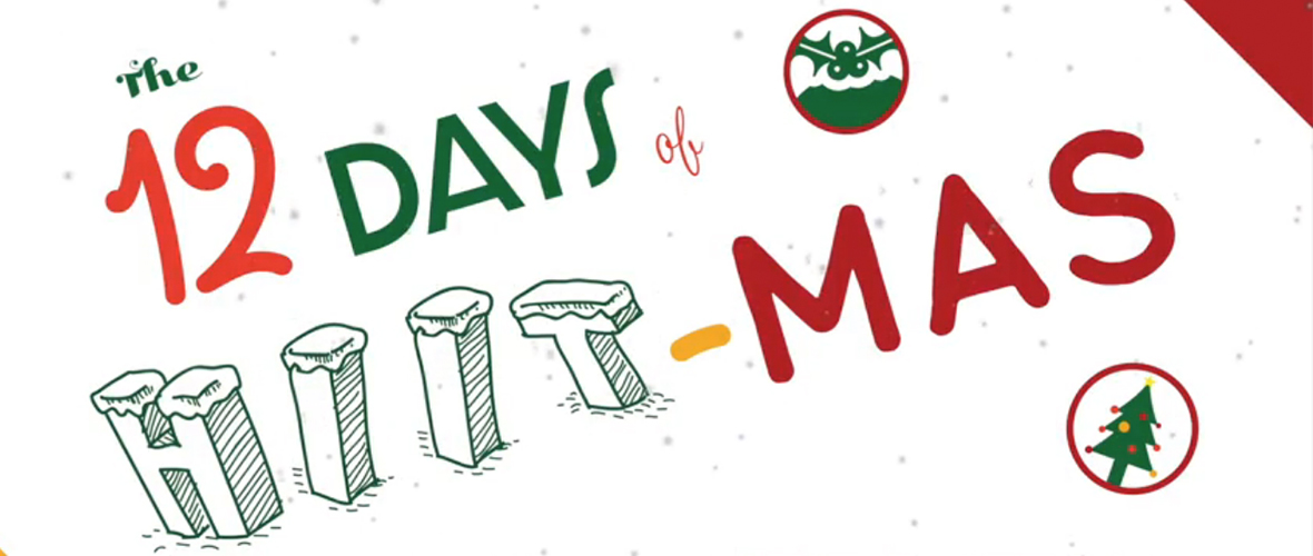12 days of hiitmas blog banner