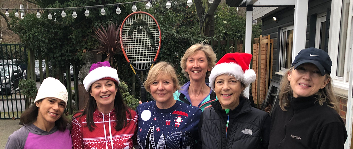 Christmas tennis event blog banner